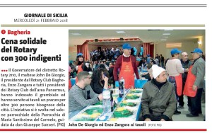 GDS 21-02-2018 Cena solidale del Rotary