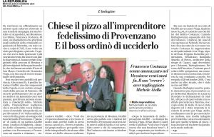 GDS 20/01/2021 Chiese il pizzo all'imprenditore
