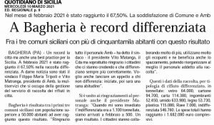 GDS 10/03/2021 Bagheria record